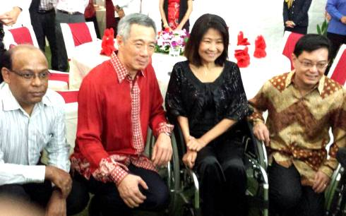 SPD President Ms Chia Yong Yong and Prime Minister Mr Lee Hsien Loong