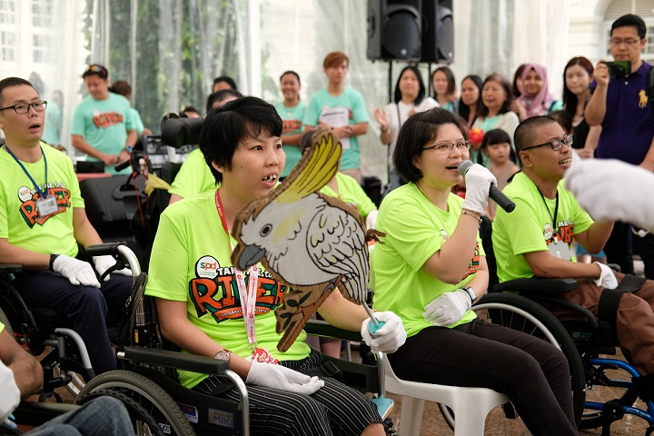 There were performances from our very own DAC clients at the post-walk carnival.