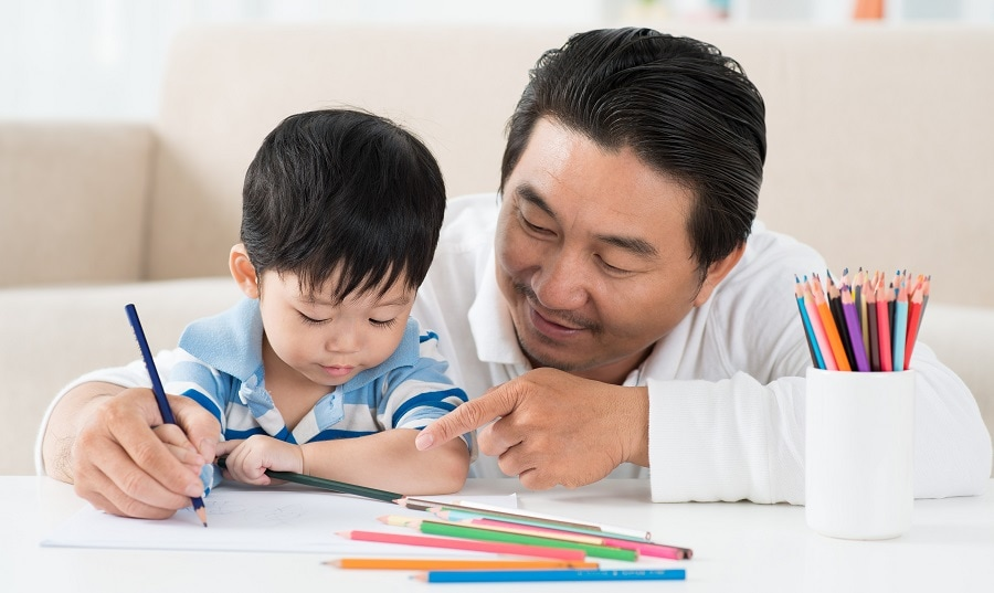 Guiding the child during the activity